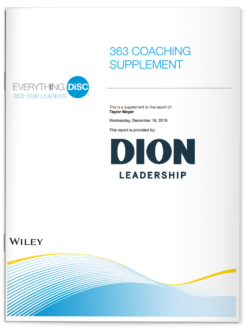 Dion Leadership-363 Coaching Supplement-Everything DiSC
